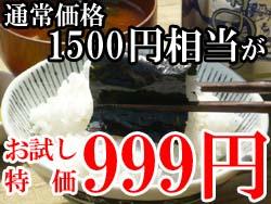 送料無料お試しセット!海苔満載999円!返金保証付き!!